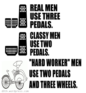 real-man-use-three-pedals